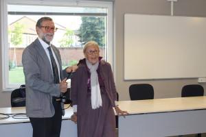 Il direttore della Fondazione Golgi Cenci dottor Antonio Guaita e la signora Gabriella Salvini Porro, presidente della Federazione Alzheimer Italia